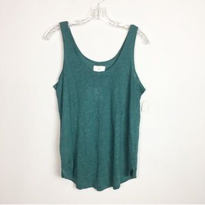 NWT loft tank top linen teal green medium